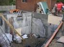 die ersten Betonwände