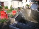 Hauptbecken und Pflanzenfilter fertig